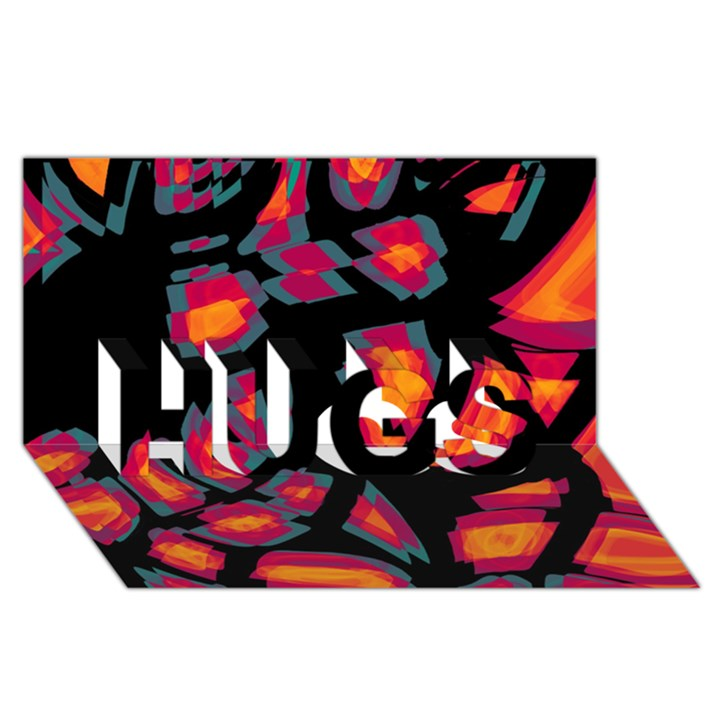 Hot, hot, hot HUGS 3D Greeting Card (8x4)