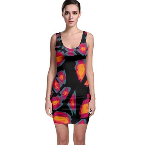 Hot, hot, hot Sleeveless Bodycon Dress