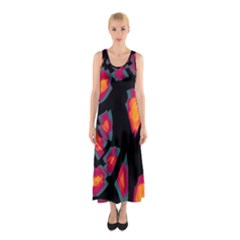 Hot, hot, hot Sleeveless Maxi Dress