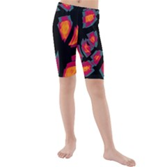 Hot, Hot, Hot Kids  Mid Length Swim Shorts