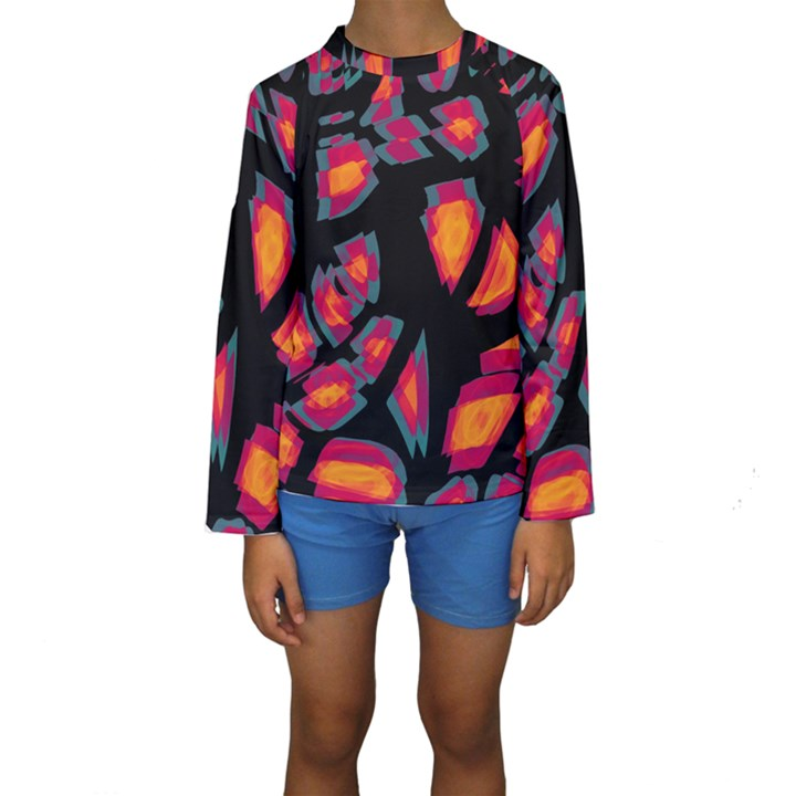 Hot, hot, hot Kids  Long Sleeve Swimwear