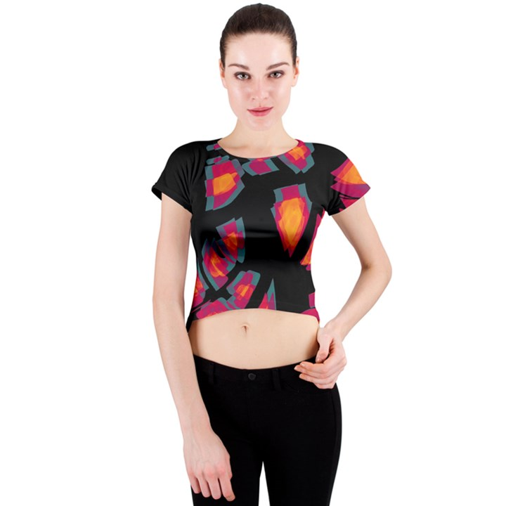 Hot, hot, hot Crew Neck Crop Top