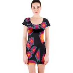 Hot, hot, hot Short Sleeve Bodycon Dress