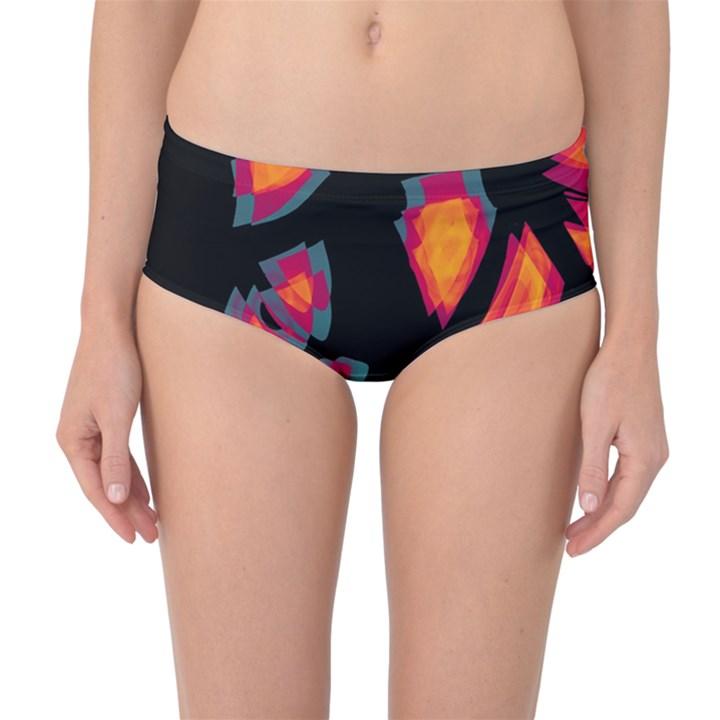 Hot, hot, hot Mid-Waist Bikini Bottoms