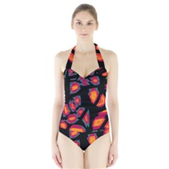 Hot, hot, hot Halter Swimsuit