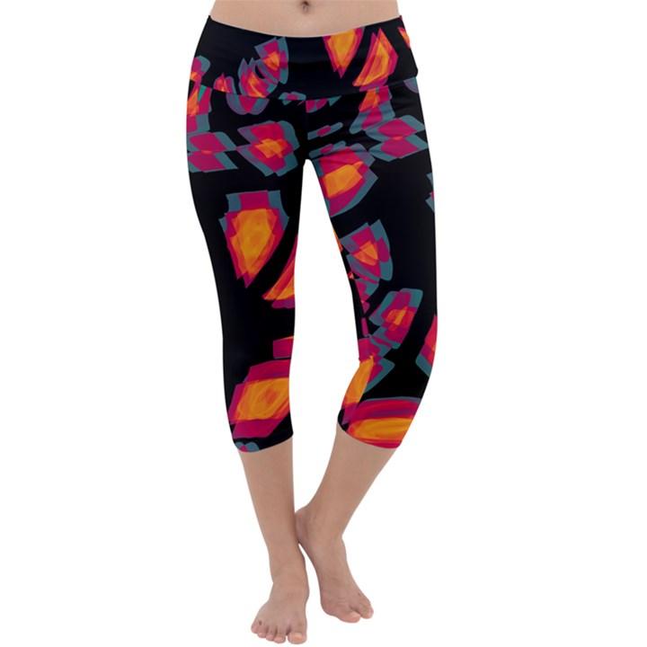 Hot, hot, hot Capri Yoga Leggings