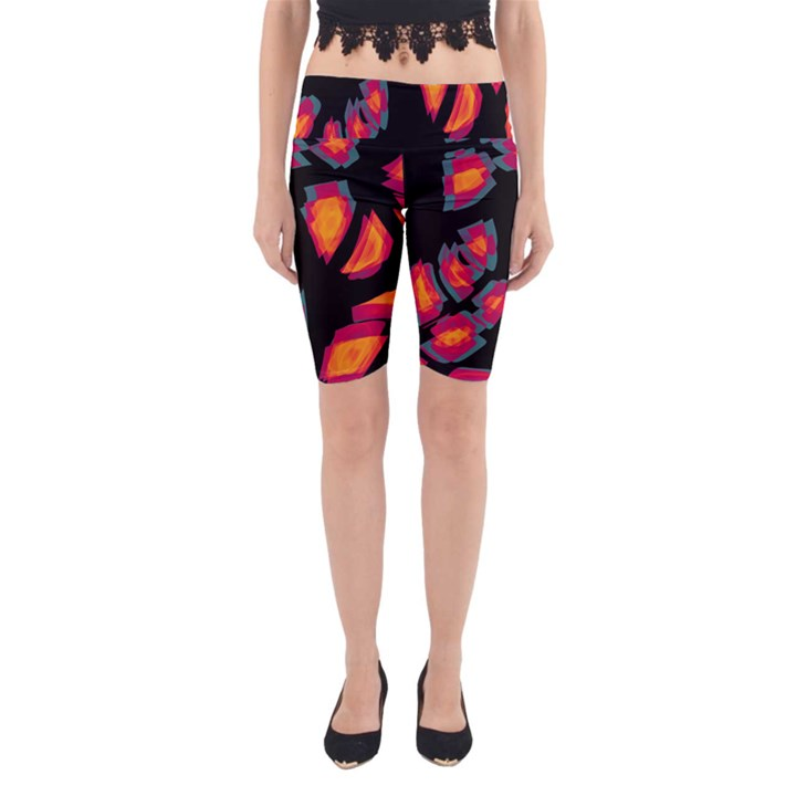 Hot, hot, hot Yoga Cropped Leggings