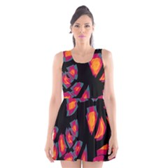 Hot, hot, hot Scoop Neck Skater Dress