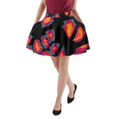 Hot, hot, hot A-Line Pocket Skirt