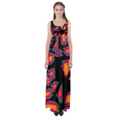 Hot, hot, hot Empire Waist Maxi Dress