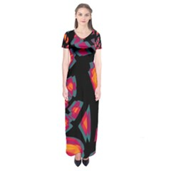 Hot, hot, hot Short Sleeve Maxi Dress