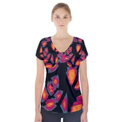 Hot, hot, hot Short Sleeve Front Detail Top