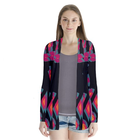 Hot, hot, hot Drape Collar Cardigan