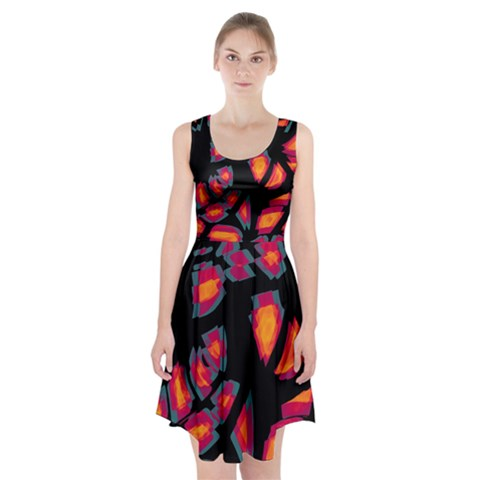Hot, hot, hot Racerback Midi Dress