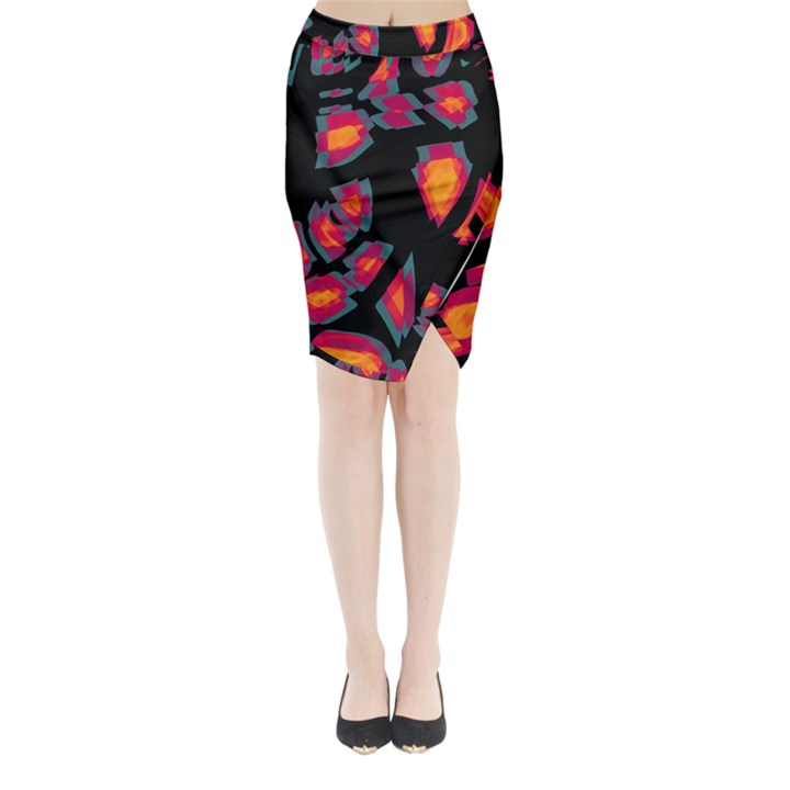 Hot, hot, hot Midi Wrap Pencil Skirt