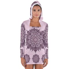 Sacred Mandala Women s Long Sleeve Hooded T Shirt