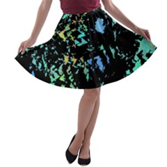 Colorful magic A-line Skater Skirt