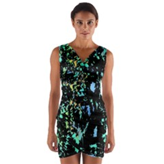 Colorful Magic Wrap Front Bodycon Dress