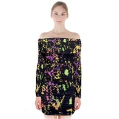 Good Mood Long Sleeve Off Shoulder Dress