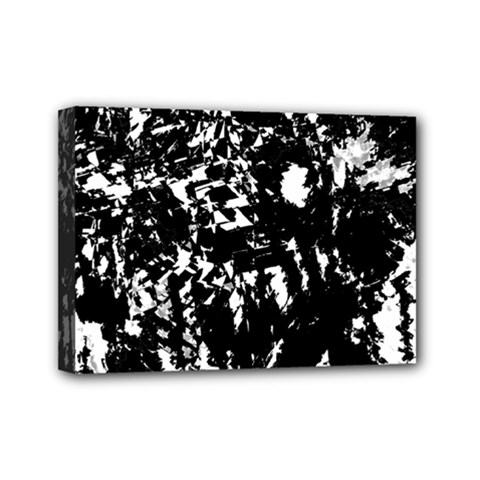 Black and white miracle Mini Canvas 7  x 5