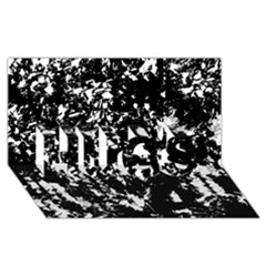 Black and white miracle HUGS 3D Greeting Card (8x4)