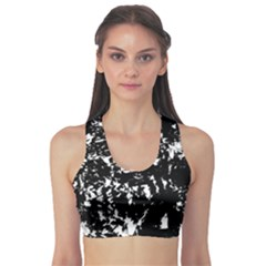 Black and white miracle Sports Bra