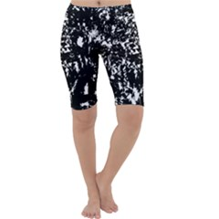 Black and white miracle Cropped Leggings