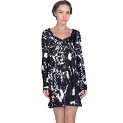 Black and white miracle Long Sleeve Nightdress