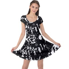 Black and white miracle Cap Sleeve Dresses