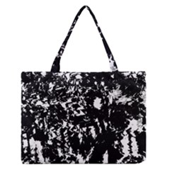 Black And White Miracle Medium Zipper Tote Bag