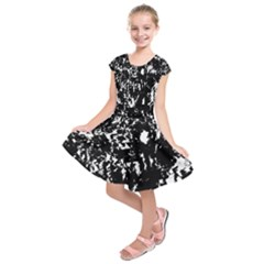 Black and white miracle Kids  Short Sleeve Dress