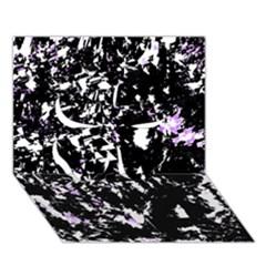Little bit of purple Clover 3D Greeting Card (7x5)