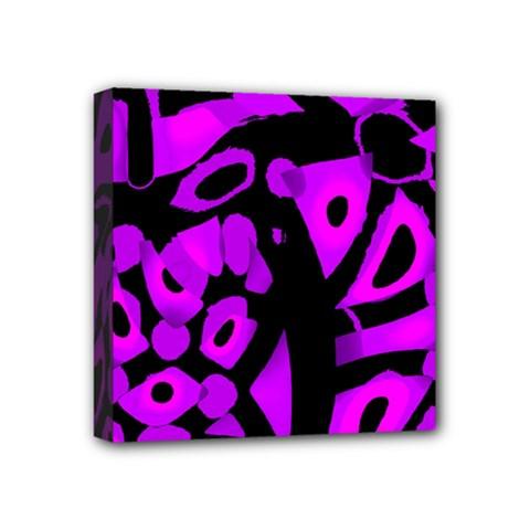 Purple design Mini Canvas 4  x 4