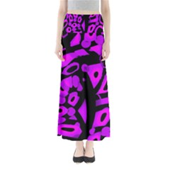 Purple design Maxi Skirts