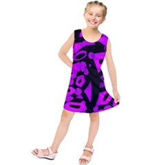 Purple design Kids  Tunic Dress