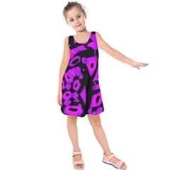 Purple design Kids  Sleeveless Dress
