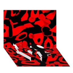 Red design LOVE Bottom 3D Greeting Card (7x5)