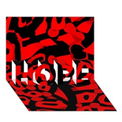 Red design HOPE 3D Greeting Card (7x5)