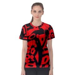 Red design Women s Sport Mesh Tee