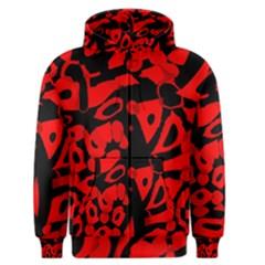 Red Design Men s Zipper Hoodie
