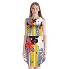 Flowers Sleeveless Chiffon Dress