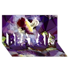 Purple Abstract Geometric Dream Best Sis 3d Greeting Card (8x4)