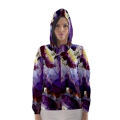 Purple Abstract Geometric Dream Hooded Wind Breaker (women)