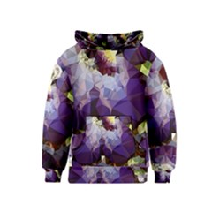 Purple Abstract Geometric Dream Kids  Pullover Hoodie