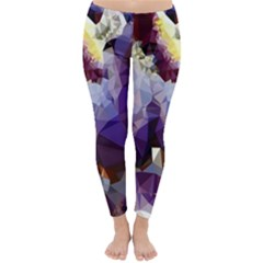 Purple Abstract Geometric Dream Winter Leggings