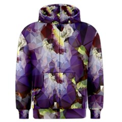 Purple Abstract Geometric Dream Men s Zipper Hoodie