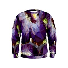 Purple Abstract Geometric Dream Kids  Sweatshirt