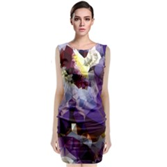 Purple Abstract Geometric Dream Classic Sleeveless Midi Dress
