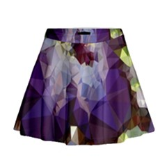 Purple Abstract Geometric Dream Mini Flare Skirt