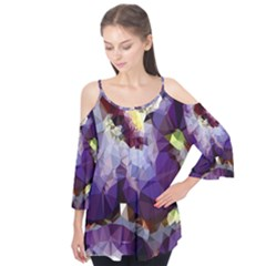 Purple Abstract Geometric Dream Flutter Tees